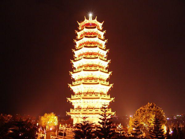 梅州千佛塔高清图片